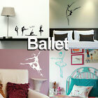 Ballet Wall Sticker Dance School Transfer Graphic Ballerina Decor Stencil Decals