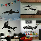 Great White Shark Wall Stickers! Boys Home Transfer Graphics Decal Decor Stencil