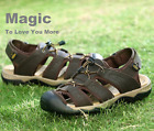 Genuine Leather Men's Sport Beach Sandals Fisherman Breathable Casual Shoes Hot