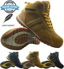 New Mens Lightweight Chukka Leather Safety Steel Toe Cap Work Boots Hiker Shoes