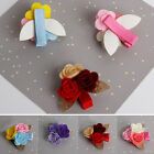 4Pcs/Lot Baby Girls Cute Rose Flower Barrettes Hair Clips Hairpins Accessory