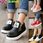 Kid Girls Boy Trainers Zipper Stars  Ankle Boots Sport Sneaker Martin Boot Shoes