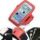 Sports Gym Armband Cover Jogging Cycle Running Arm Holder Case Cell Phone RED