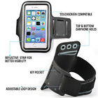 Sports Gym Armband Cover Jogging Cycle Running Arm Holder Case Cell Phone BLACK