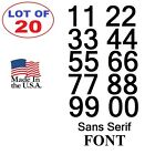 Lot of 20 White,Black Vinyl Street Address,Mailbox Number Decal Stickers SANS SE