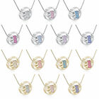 Womens White/Yellow Gold Plated Rhinestone Heart Pendant Long Necklace