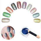 6 Color/set Glitter Powder Mirror Powder With Brush Nail Decorations Box-Packed