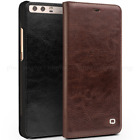 Vintage Genunie Cowhide Leather Flip Cover Smart Wallet Case for HUAWEI Business