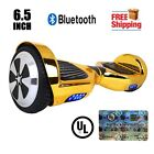 """UL2272 Certified Bluetooth 6.5"""" Two Wheel Self Balancing Hoverboard Chrome Gold"""