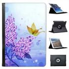 Purple Flower & Butterfly Magical Scene Leather Case For iPad Mini & Retina