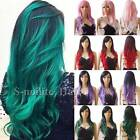 how to ombre red hair - Stylish Women Ombre Cosplay Hair Wig Long Straight Curly Wavy Costume Full Wig #