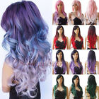 black red purple hair - Pastel Pink Purple Red Dark Ombre Long Cosplay Hair Wig Women Long Straight Wavy