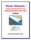 """12 Rolls Dr.Diamonds ExamTable Paper 225ft Smooth/125ft Crepe Rolls 14""""-18""""-21"""""""