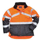 PortWest Mens Hi-Vis 2-Tone Breathable Jacket Multi Color and Size S760