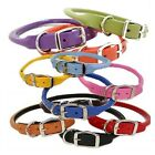 Rolled Round Leather Pet Dog Collar