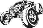 MONSTER TRUCK vinyl wall art sticker decal boy bedroom vehicle action decor #70