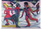 Poster Print Wall Art entitled Ice Skaters