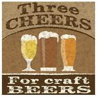 Cheers and Beers Poster Art Print, Beer Home Decor