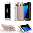 External 8000mAh Backup Battery Power Bank Charger Case For Samsung S6 S7 WI1 US
