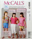 MCCALL'S PATTERN TOP 3 STYLES + SHORTS & PANTS VERY EASY SZ 3-6 or 7-14 # M6917