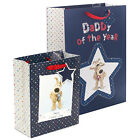 Boofle Dad Medium Large Happy Father's Day Gift Bag & Tag