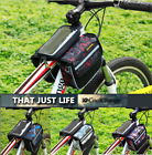 Cycling Cellphone 3 Pouch Pannier Bicycle Frame Front Tube Phone Waterproof Bag