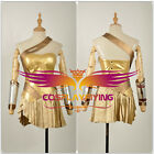 2017 Wonder Woman Justice League Diana Prince Golden Dress Cosplay Costume