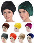 Indian Style Velvet Head Turban Hat Hair Loss Chemo Cap Muslim Women Scarf Wrap