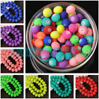 Loose Charm 10mm Matte Rubber Neon Faceted Rondelle Glass Beads Jewelry Findings