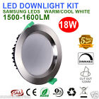 NEW 6X18W DIMMABLE LED DOWNLIGHT KIT 120MM CUTOUT Satin Chrome WARM/COOL WHITE