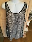 NWT Boutique Angie Black Ivory Lightweight Abstract Print Sundress HOT S M L