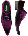 NEW VELVET WINKLEPICKER SHOES MADCAP ENGLAND MENS SNAKESKIN Velvet Shoes PURPLE