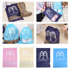 Non-Woven Portable Shoes Storage Drawstring Pouch Travel Dust Bag Tote Organizer