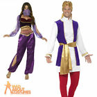 Adult Arabian Prince and Princess Costume Mens Womens Bollywood Fancy Dress