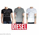 Mens New Diesel 1978 T-HITA T-Shirt Casual Crew Neck Navy Black Grey White