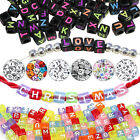 400PCS X 6mm 7mm Mixed Alphabet Letter Acrylic Beads Jewellery Making