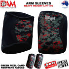 DAM ARM/ELBOW SLEEVE POWER LIFTING WEIGHTLIFTING PATELLA SUPPORT GREEN CAMO