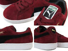 Puma Suede Classic + Lace Up Mens Trainers Red Sneakers 356568-04