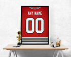 Chicago Blackhawks Jersey Poster - Personalized Name & Number FREE US SHIPPING $15.0 USD on eBay