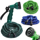 Deluxe 25FT-100FT 3X Expandable Flexible Garden Water Hose with Spray Nozzle BO