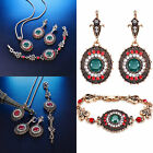 Hot Sale Women Flower Gold Necklace Earring Bracelet Wedding Beauty Jewelry Set