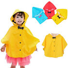 Kids Girls Boys Raincoat Hooded Waterproof Travel Poncho Rai