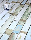 Rustic multi-coloured laminate flooring packs mixed width Beach House Cabin Deck