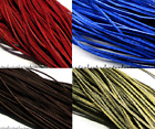 Flat 2mm 100% Real GenuineDyed Leather Thong String Cord -  11 Colours