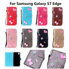 Latest Wallet Case Nice Beautiful Protector Cover For Samsung Galaxy S7 Edge