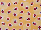 Ladybug Fabric Yellow Anna's Garden Patrick Lose Quilting Cotton FQ BTHY BTY