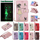 Fluorescent Leather Magnetic Wallet Case Cover for Samsung S3 S4 S5 S6 S7 Edge