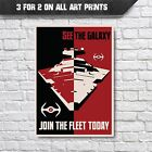 Star Wars Join The Fleet - Star destroyer Poster - Wall Art Print - A4 A3 Prints £9.35 GBP
