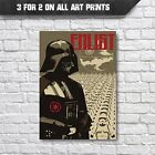 Star Wars Poster - Abstract Darth Vader Movie Posters, A3 A4 Wall Art Decor £9.35 GBP