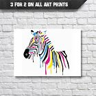 Zebra Abstract Pop-Art Wall Art Print - A3 A4 Poster Prints - Animal Picture
